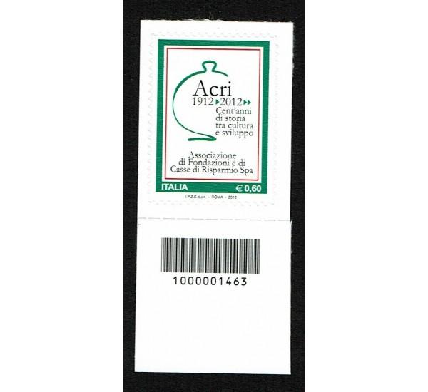 2012 Fondazione ACRI Codice a Barre Sinistro