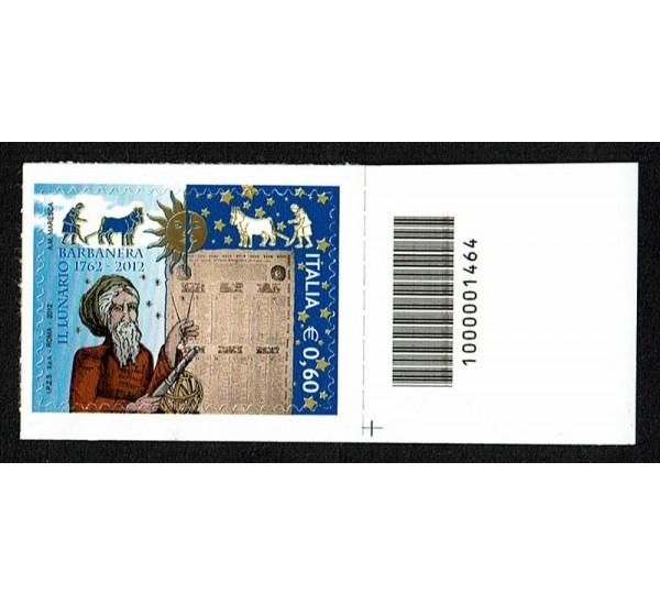 2012 Lunario Barbanera Codice a Barre Basso