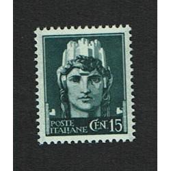 1929 Serie Imperiale cent 15 Sas.246 MNH/**