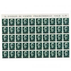 1929 Serie Imperiale Sas,246 Blocco di 50 MNH/**