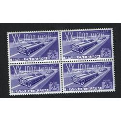 1953 - Mille Miglia - Quartina MNH/**
