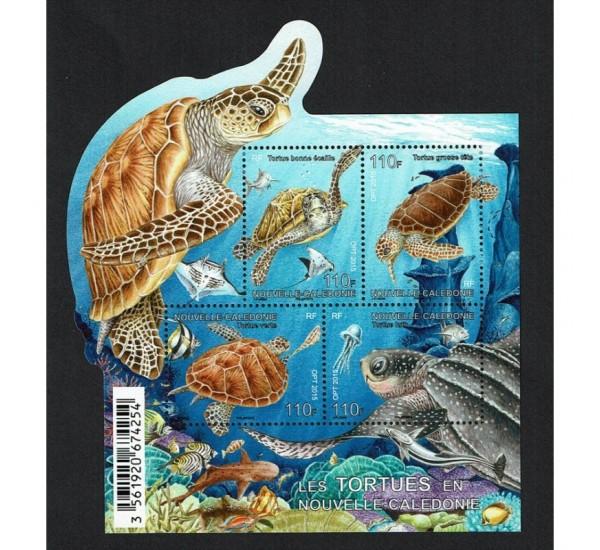 2015 Nuova Caledonia - le tartarughe foglietto MNH/**