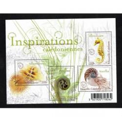 2016 Nuova Caledonia - le spirali in natura foglietto MNH/**