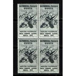 1952 Mostra truppe alpine Biella quartina MNH/**