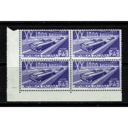 1953 - Mille Miglia - Quartina Angolo foglio MNH/**