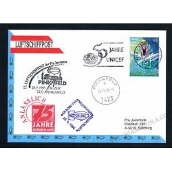 1996 Luftschiffpost n.13 Dirigibile OE-ZHZ - Pro Juventute ONU
