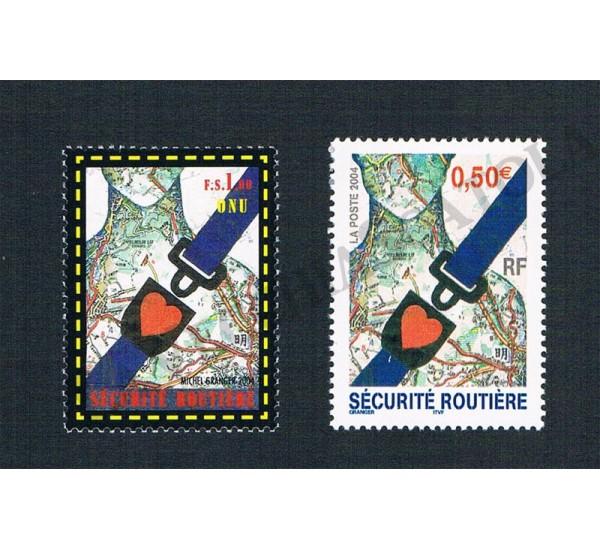 2004 - Congiunta Francia - Sicurezza Stradale MNH/**