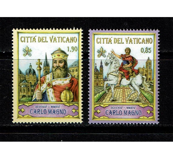 2014 Vaticano Morte di Carlo Magno MNH/**