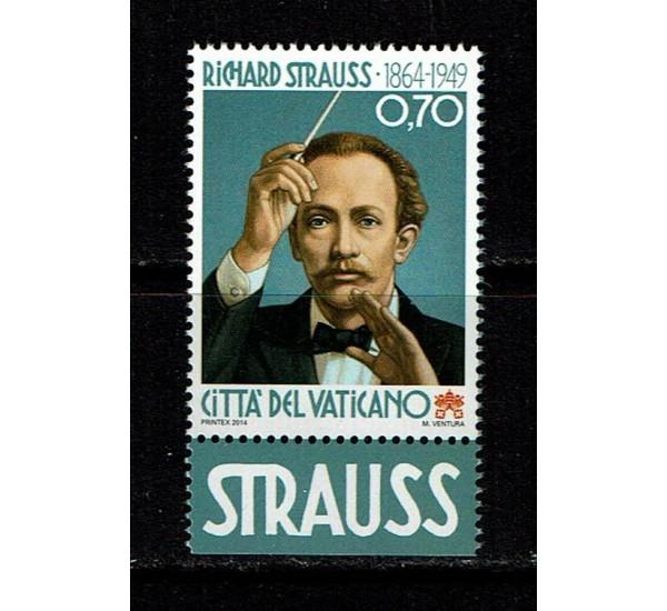 2014 Vaticano Nascita di Richard Strauss MNH/**