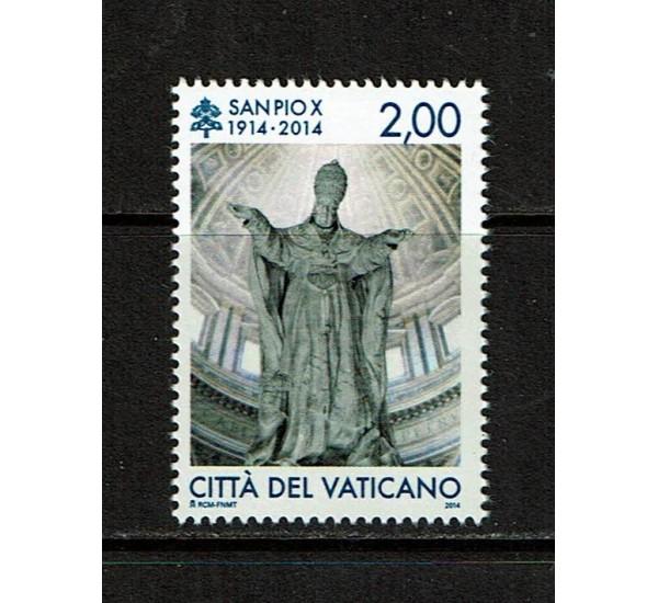 2014 Vaticano Centenario morte di S.Pio X MNH/**