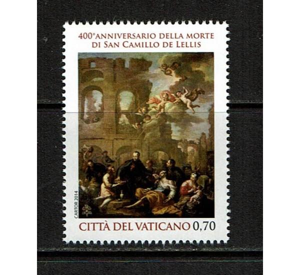 2014 Vaticano Morte di S.Camillo de Lellis MNH/**
