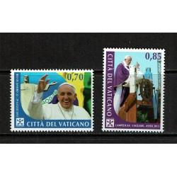 2014 Vaticano Viaggi del Papa nel 2013 MNH/**