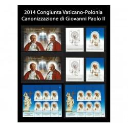 2014 Emissioni congiunte Vaticano - Polonia Giovanni Paolo II