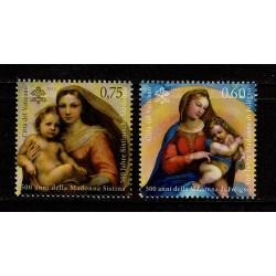2012 Vaticano Madonna di Foligno e della Madonna Sistina MNH/**