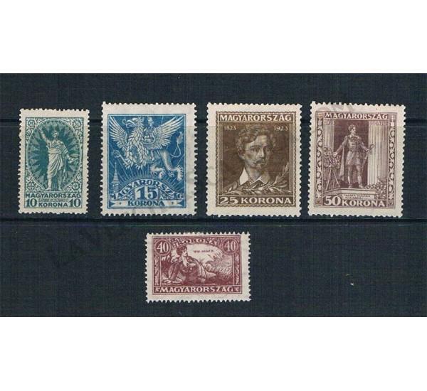 1923 Ungheria centenario Sandor Petofi MH - Serie completa