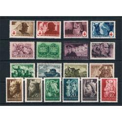Ungheria lotto di 18 francobolli nuovi MH anni 40-15