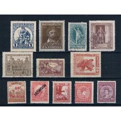 Ungheria lotto da 12 francobolli nuovi MH - periodo classico