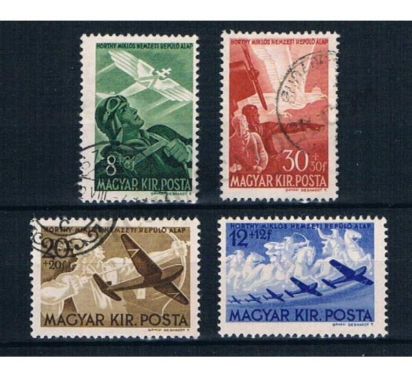 1942 Ungheria serie completa con sovrapprezzo pro aviatori