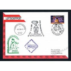 1996 Luftschiffpost n.14 Dirigibile OE-ZHZ - Pro Juventute ONU