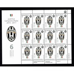 2017 San Marino Minifoglio Juventus MNH/**