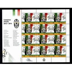 2014 San Marino Minifoglio Juventus MNH/**