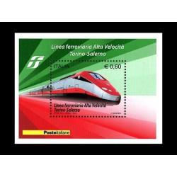 2010 Italia Repubblica alta velocità Torino-Salerno foglietto