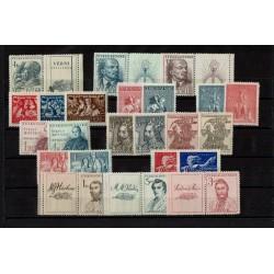 Cecoslovacchia 10 serie complete anni '40 MNH/**
