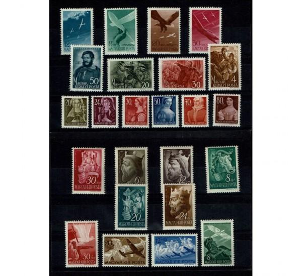 Francobolli Ungheria 5 serie complete anni '40