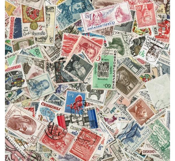 Lotto 400 francobolli annullati Cecoslovacchia