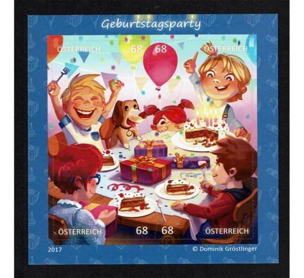 2017 Austria foglietto Puzzles Festa di compleanno