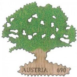 2017 Austria Oak tree Francobollo in legno di quercia