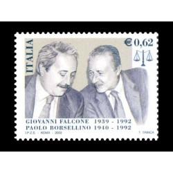 2002 Giovanni Falcone e Paolo Borsellino MNH/**