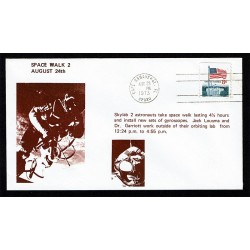 1973 Cover Space Walk 2 Cape Canaveral Lousma e Garriott