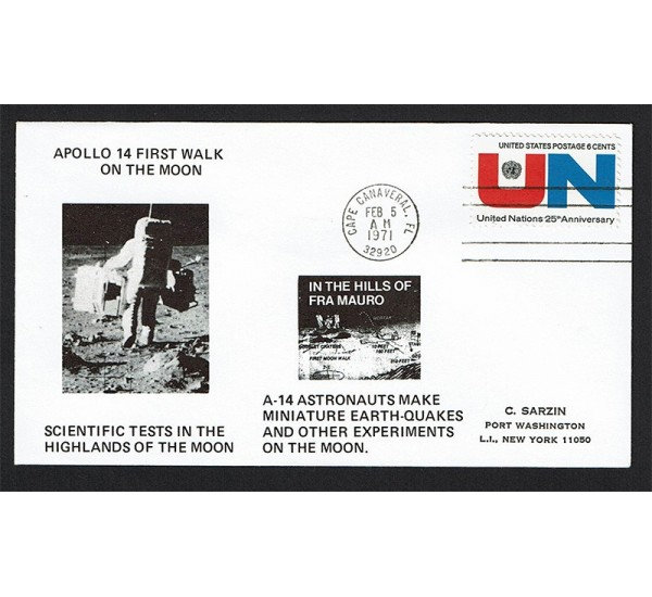 Cover Space 1971 Apollo 14 walk on the Moon Cape Canaveral