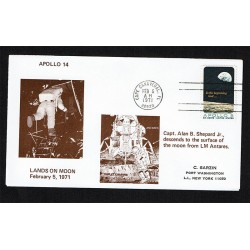 Cover Space 1971 Apollo 14 Lands on Moon Cape Canaveral