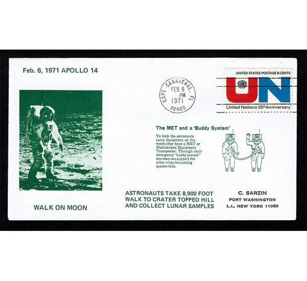 Cover Space 1971 Apollo 14 Walk on Moon Cape Canaveral