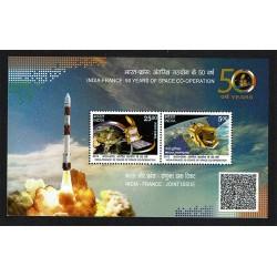 2015 India Congiunta Francia programma spaziale foglietto