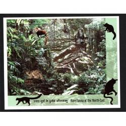 2009 India Rara fauna del Nord-Est foglietto