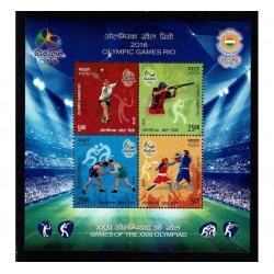 India India Olimpiadi Rio 2016 foglietto MNH/**