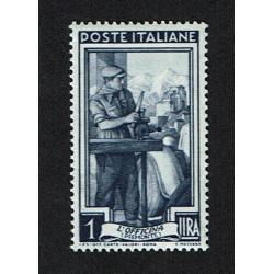 1950 Specializzazione Italia Lavoro Sas.635/I 1Lira MNH/**
