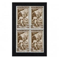 1950 Specializzazione Italia Lavoro Sas.646/I 40Lire Quartina