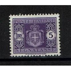 1945 Segnatasse Luogotenenza 5 Lire Sas.94 MNH/**