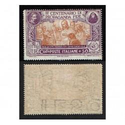 1923 Propaganda Fide filigrana Lettera A+ MH/*