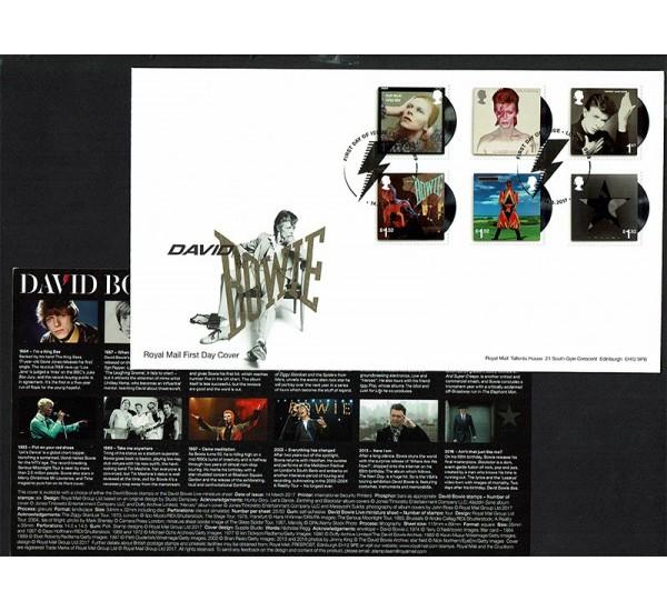 2017 Gran Bretagna David Bowie FDC serie