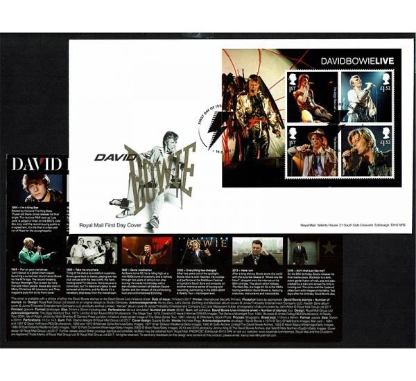 2017 Gran Bretagna David Bowie FDC foglietto
