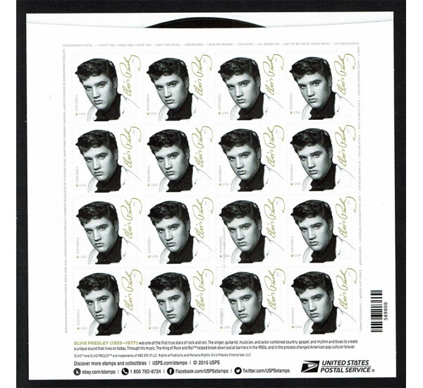 2015 Stati Uniti Elvis Presley minifoglio