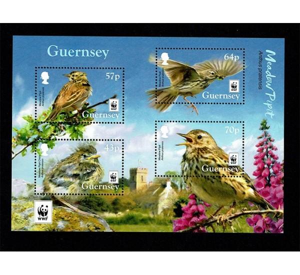 2017 Guernsey WWF Specie minacciate foglietto