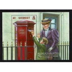 2016 Guernsey Foglietto Storia Postale MNH/**