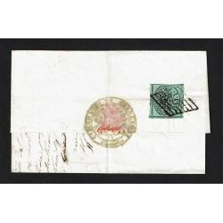 1856 1Baj Pontificio su lettera da Spinetoli a Appignano (Ascoli)