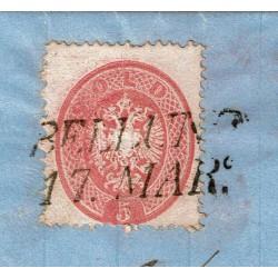 1864 Lettera da Belluno per Perarolo Sas.38 con testo